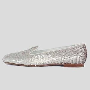 Chanel Sequined Smoking Slippers